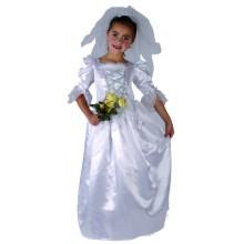 Dětský kostým PRINCEZNA NEVĚSTA 120 - 130cm ( 5 - 9 let )